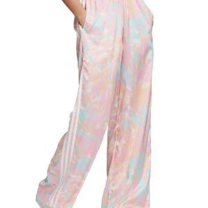 ADIDAS ORIGINALS Tie Dye Satin Pants Size L